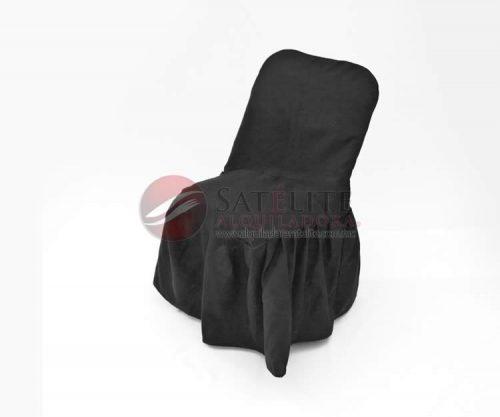 Funda negra para silla acojinada