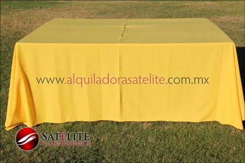 Mantel cuadrado amarillo