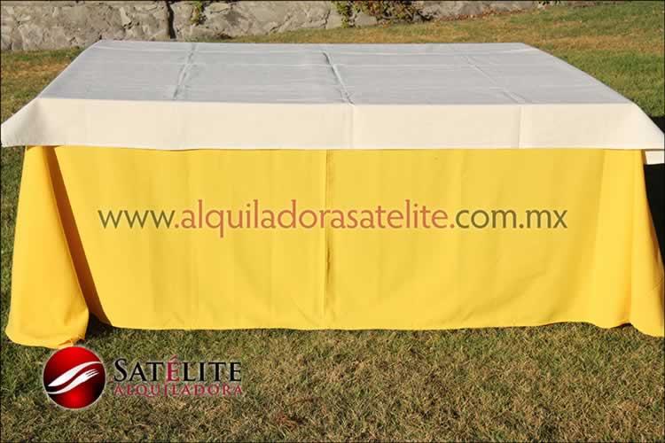 Mantel cuadrado amarillo manta