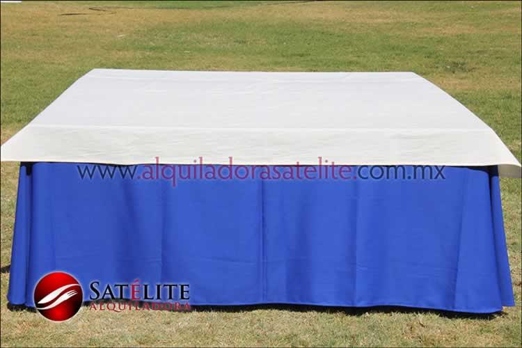 Mantel cuadrado azul rey manta