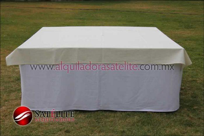 Mantel cuadrado blanco manta