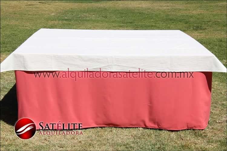 Mantel cuadrado coral manta