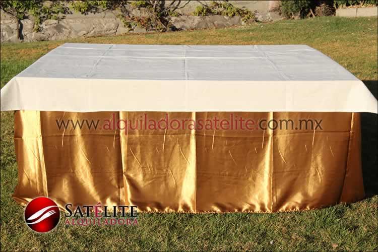 Mantel cuadrado dorado manta
