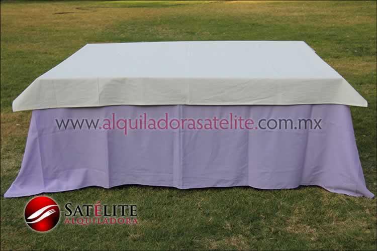 Mantel cuadrado lila manta