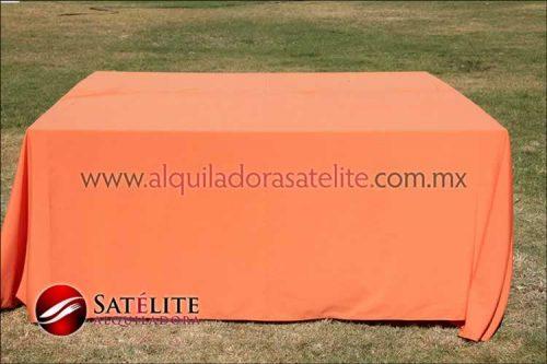 Mantel cuadrado naranja