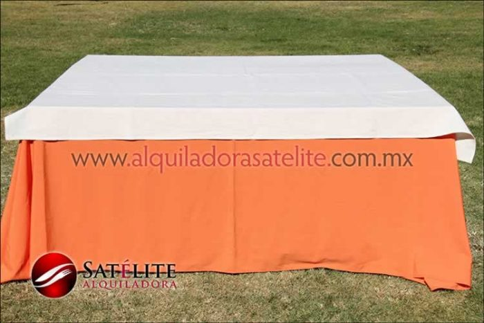 Mantel cuadrado naranja manta