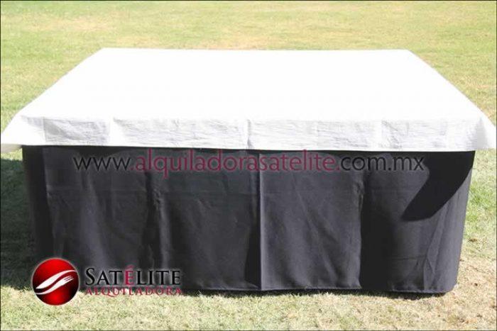 Mantel cuadrado negro manta
