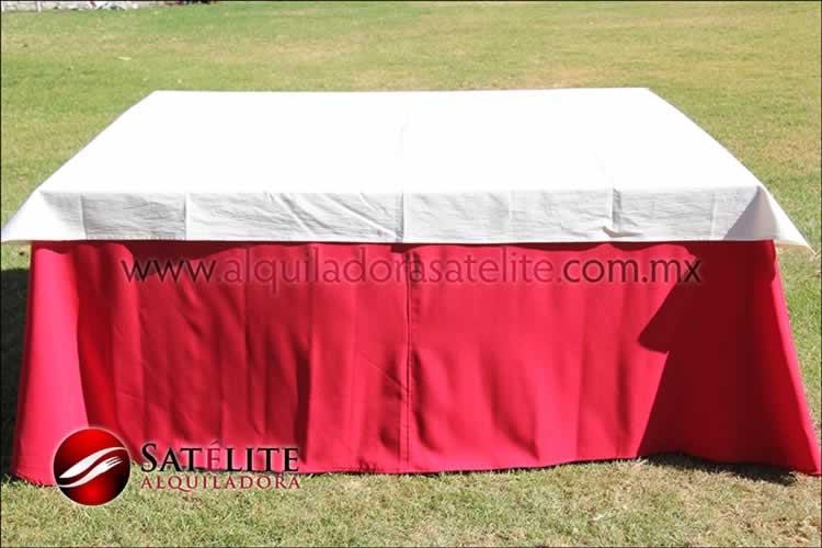 Mantel cuadrado rojo manta