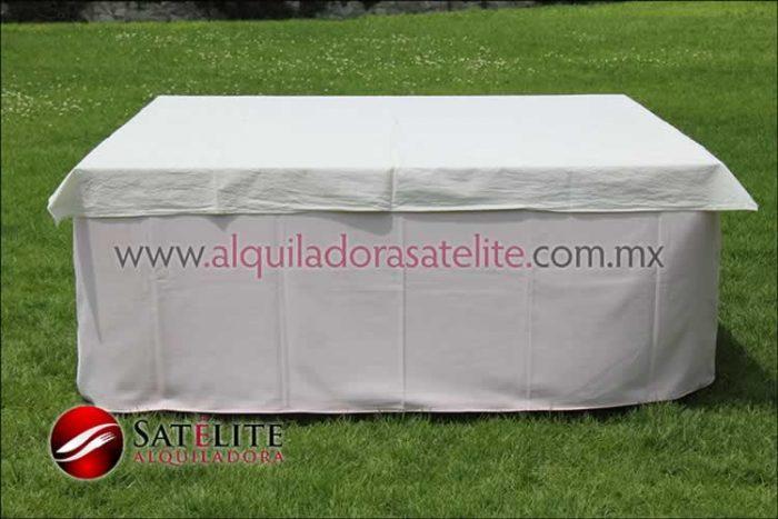 Mantel cuadrado rosa claro manta