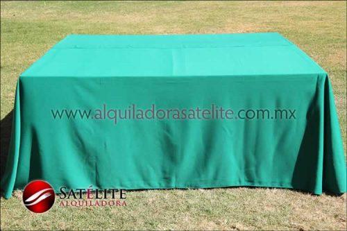 Mantel cuadrado verde bandera