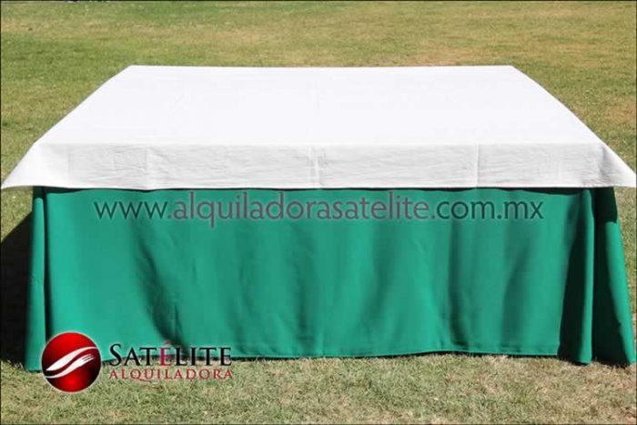 Mantel cuadrado verde bandera manta