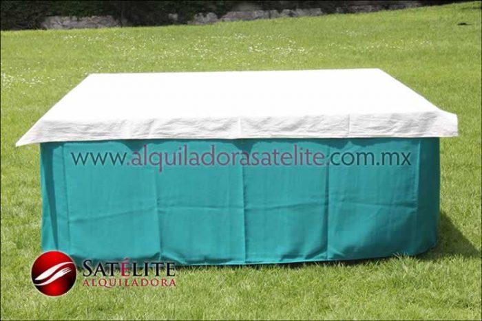Mantel cuadrado verde jade manta