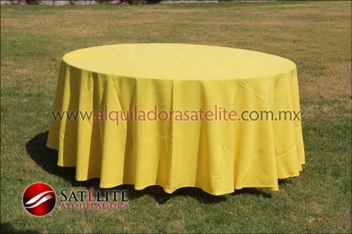Mantel redondo amarillo