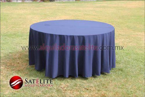 Mantel redondo azul marino