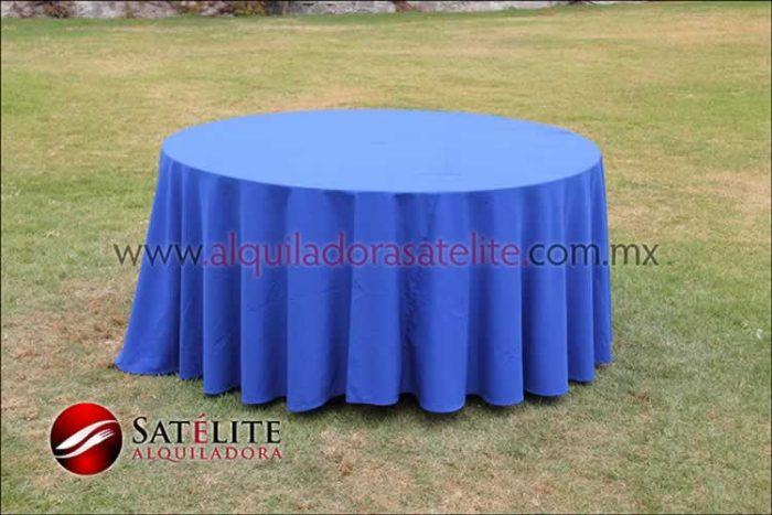 Mantel redondo azul rey