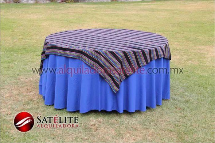 Mantel redondo azul rey cambaya