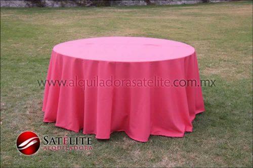 Mantel redondo coral