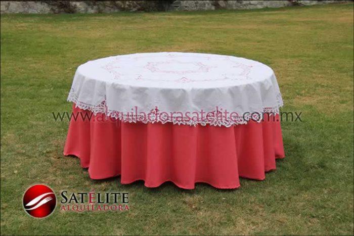 Mantel redondo coral brujas 2