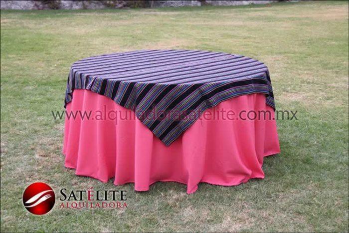 Mantel redondo coral cambaya