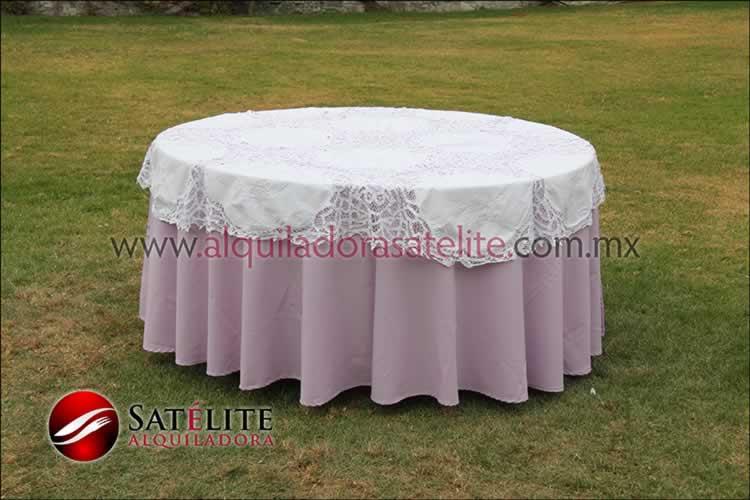 Mantel redondo lila brujas 1