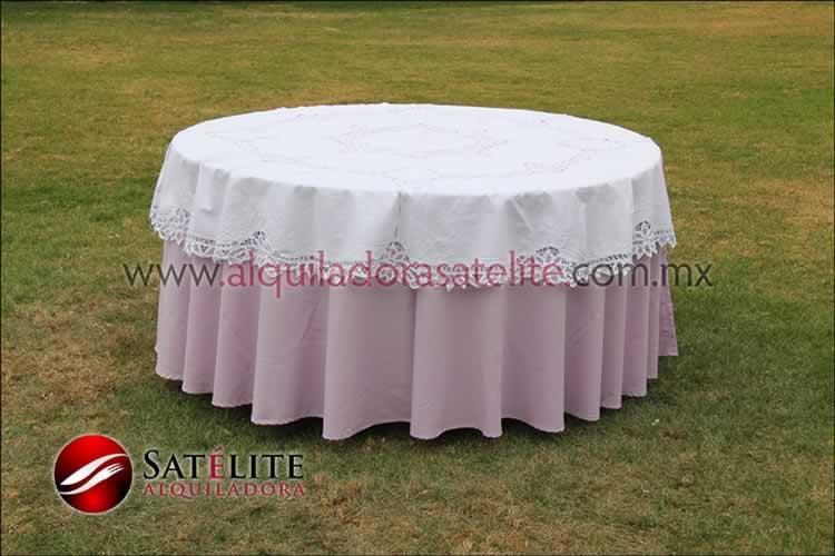 Mantel redondo lila brujas 2