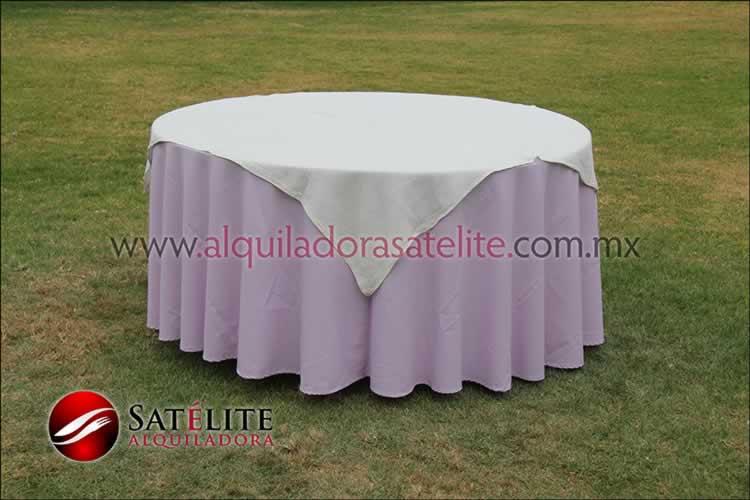 Mantel redondo lila yute