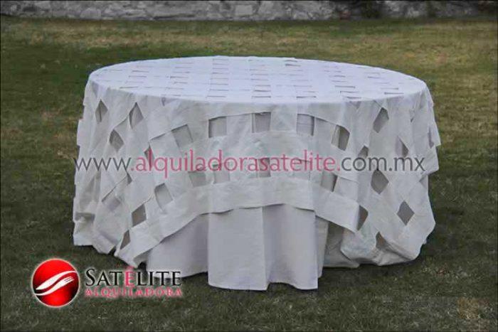 Mantel redondo manta entrelazado manta