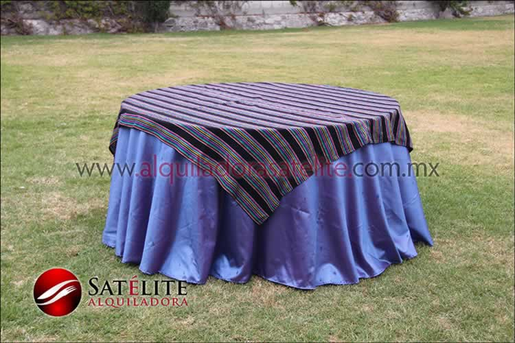 Mantel redondo morado tornasol cambaya