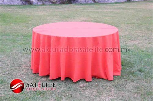 Mantel redondo naranja