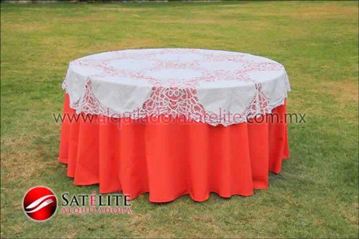 Mantel redondo naranja brujas 1