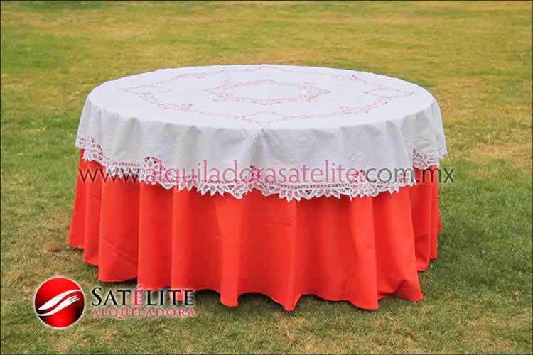 Mantel redondo naranja brujas 2