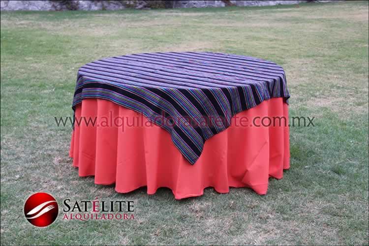 Mantel redondo naranja cambaya