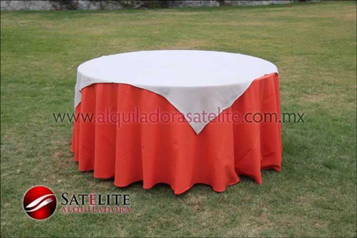 Mantel redondo naranja yute