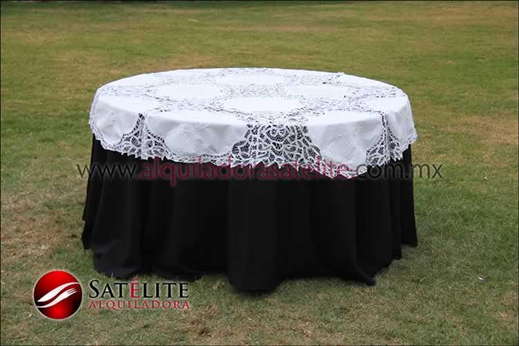 Mantel redondo negro brujas 1