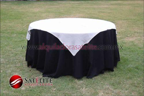 Mantel redondo negro yute