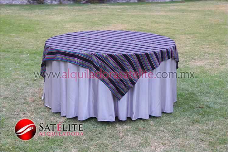 Mantel redondo plata cambaya