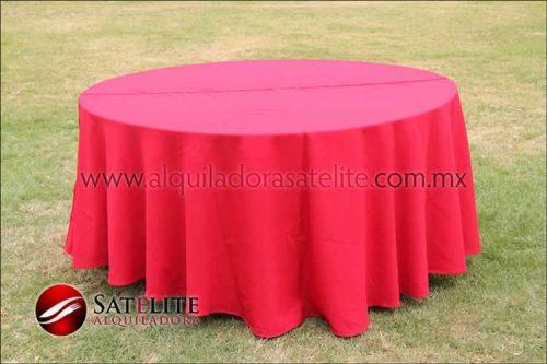 Mantel redondo rojo