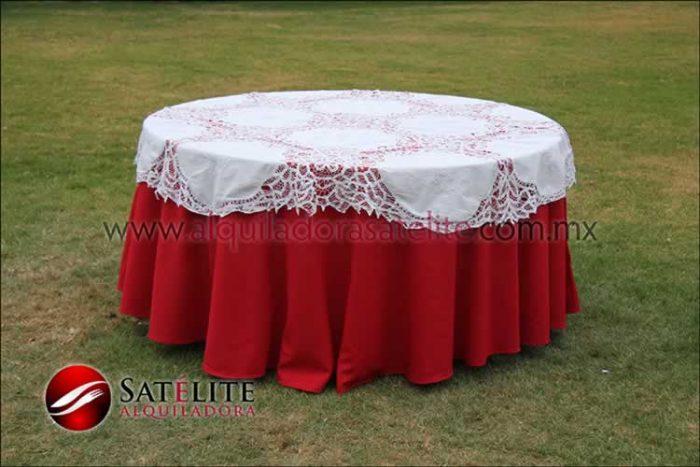 Mantel redondo rojo brujas 1