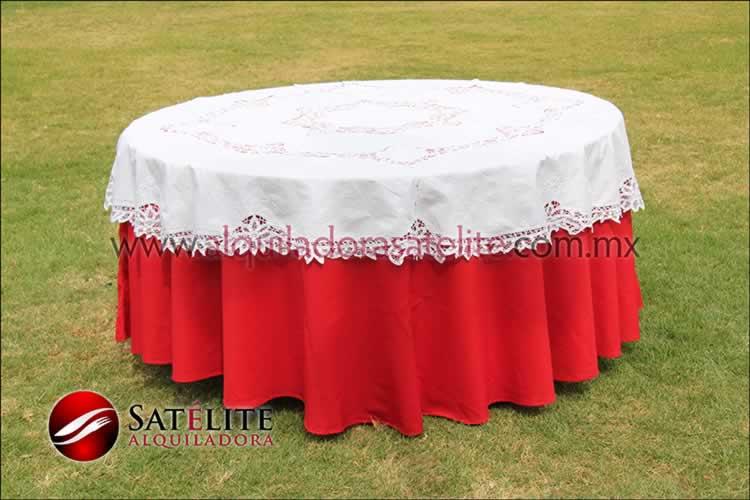 Mantel redondo rojo brujas 2