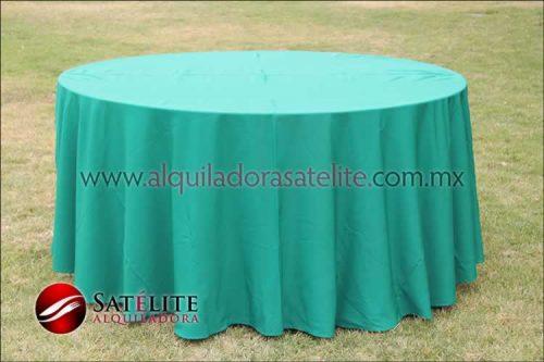 Mantel redondo verde bandera