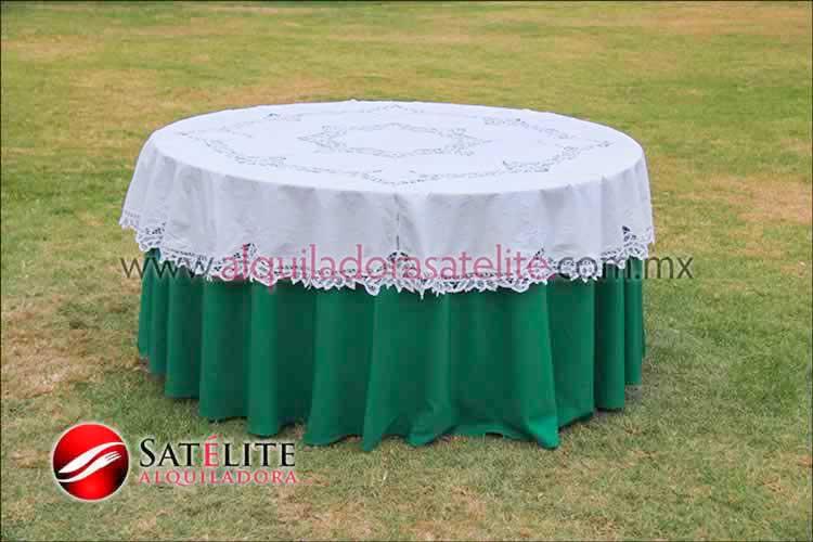 Mantel redondo verde bandera brujas 2