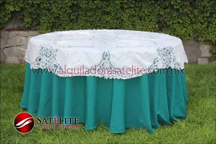 Mantel redondo verde jade brujas 1