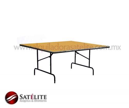Mesa cuadrada de 165 cm para 10 personas