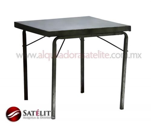 Mesa cuadrada de metal de 75 cm