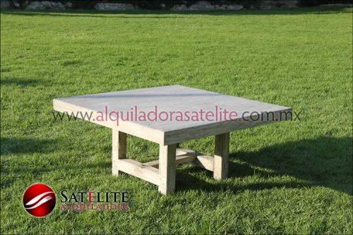 Mesa infantil vintage de 120x120 cm