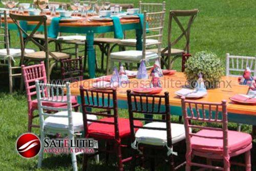 Mesa rectangular y sillas tiffany infantiles