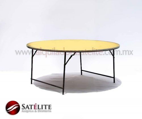 Mesa redonda de 180 cm para 12 personas