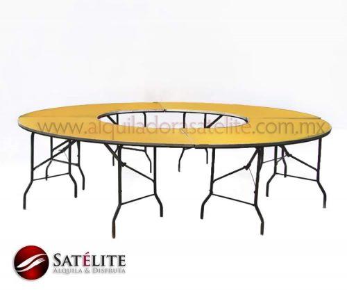Mesa redonda de 3 metros para 20 personas