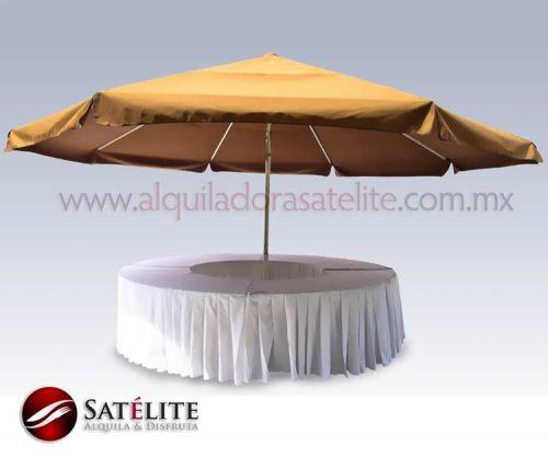 Sombrilla con mesa 20 personas
