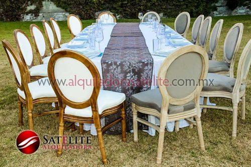 Silla Luis XV con mesa rectangular para 16 personas